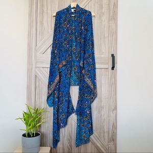 Boho AMUSE Society Blue Floral Kimono